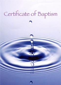 TRADITIONAL BAPTISMAL CERTIFICATE NRSV (PACK OF 12)